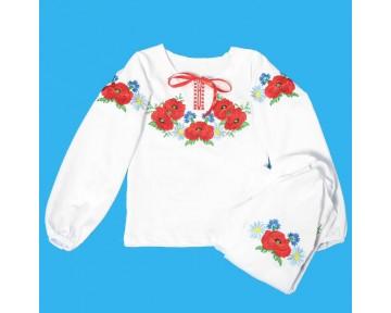 Вышиванка для девочки (100-095)
